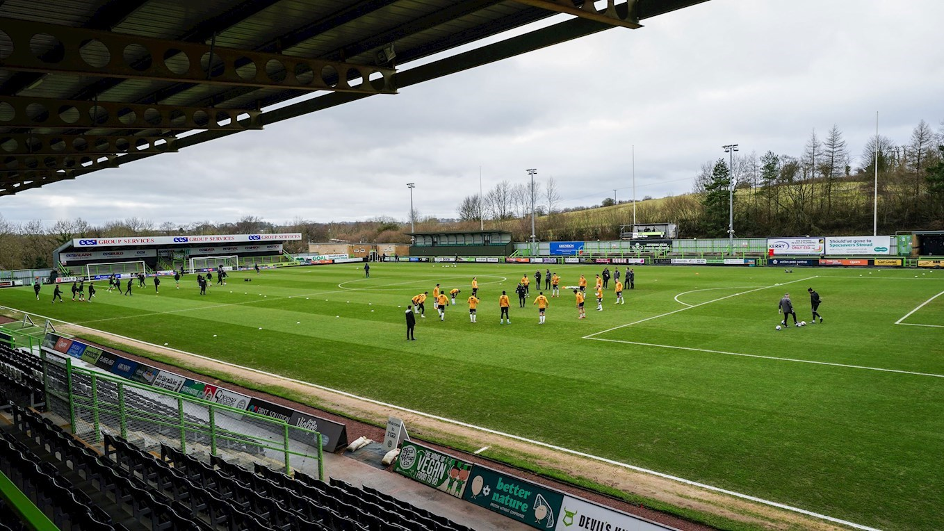 A photograph of Forest Green Rovers' stadium