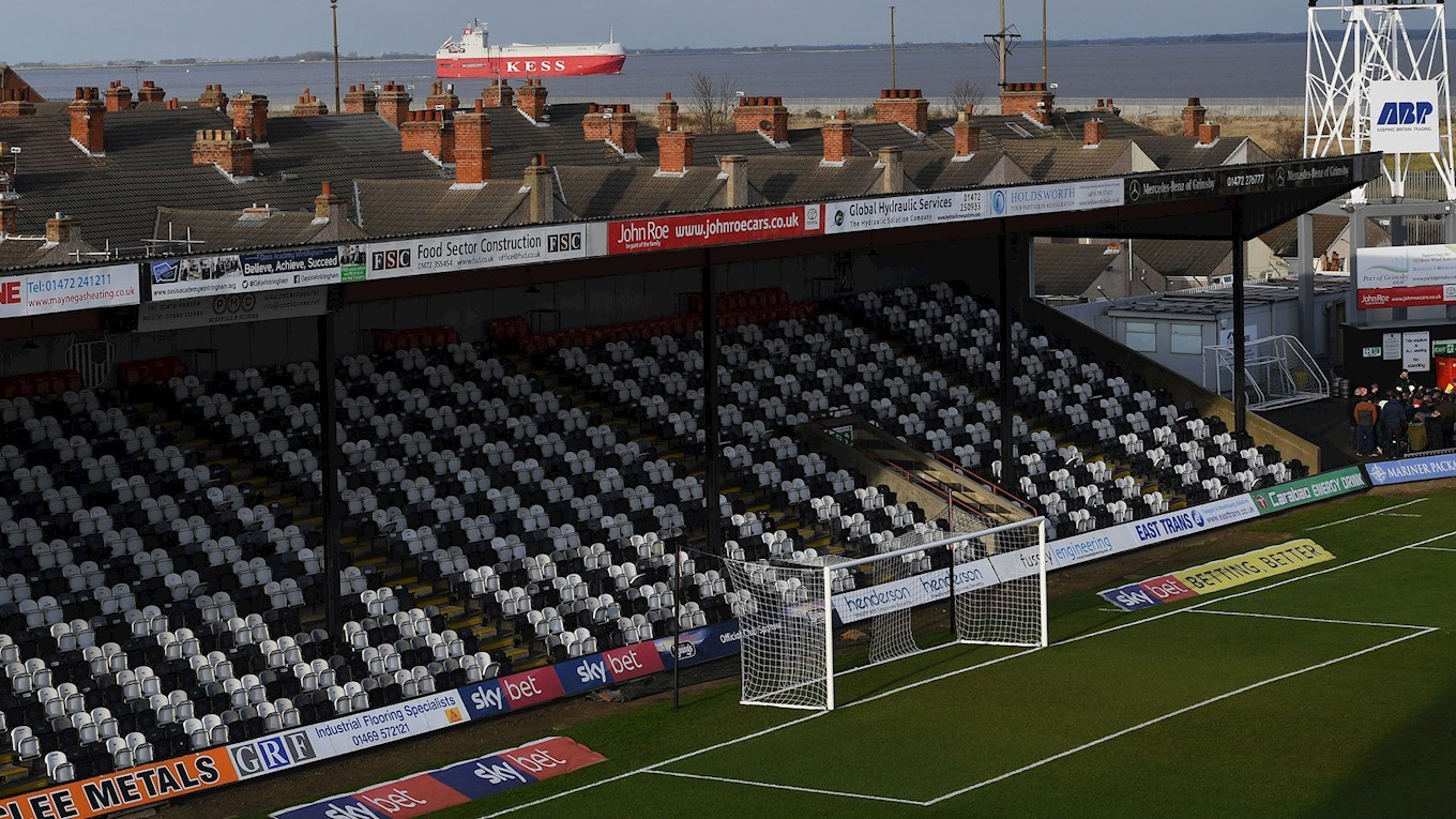 A photo of Grimsby Town's stadium