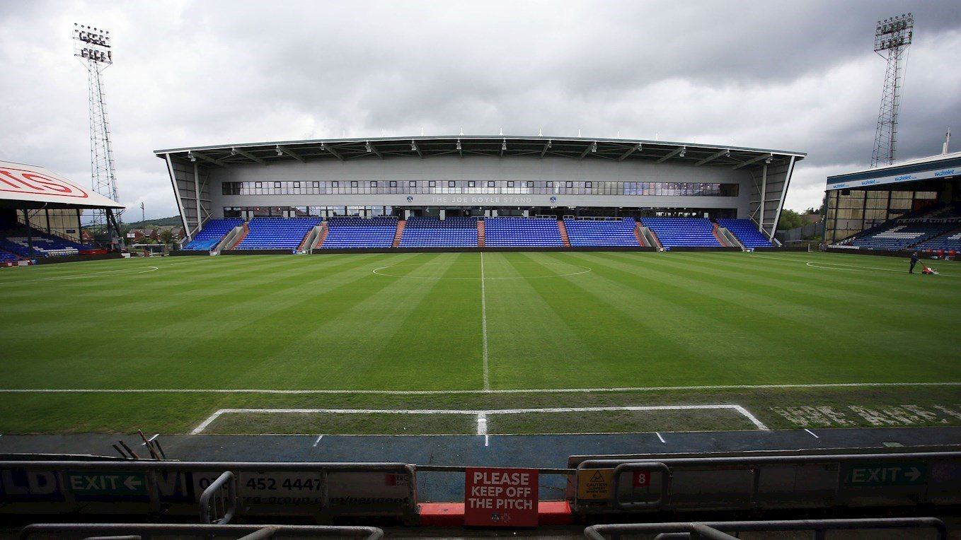 A photograph of Oldham Athletic's stadium