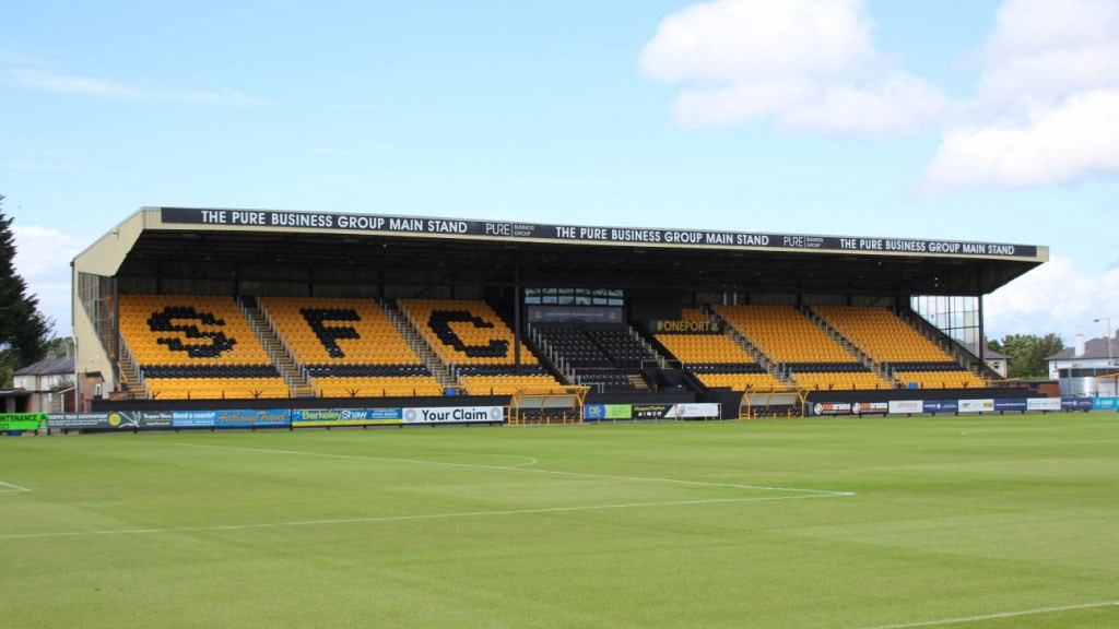 A picture of Southport's stadium