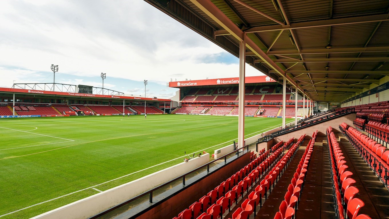A photograph of Walsall's stadium