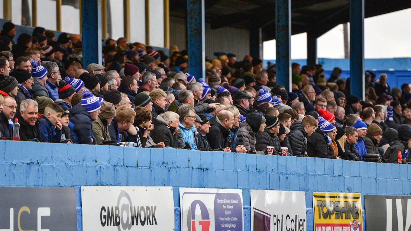 A photo of Barrow supporters