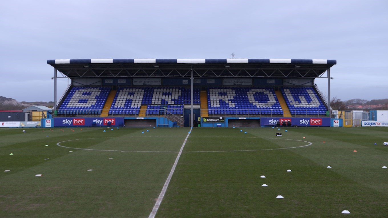A photograph of The Progression Solicitors Stadium