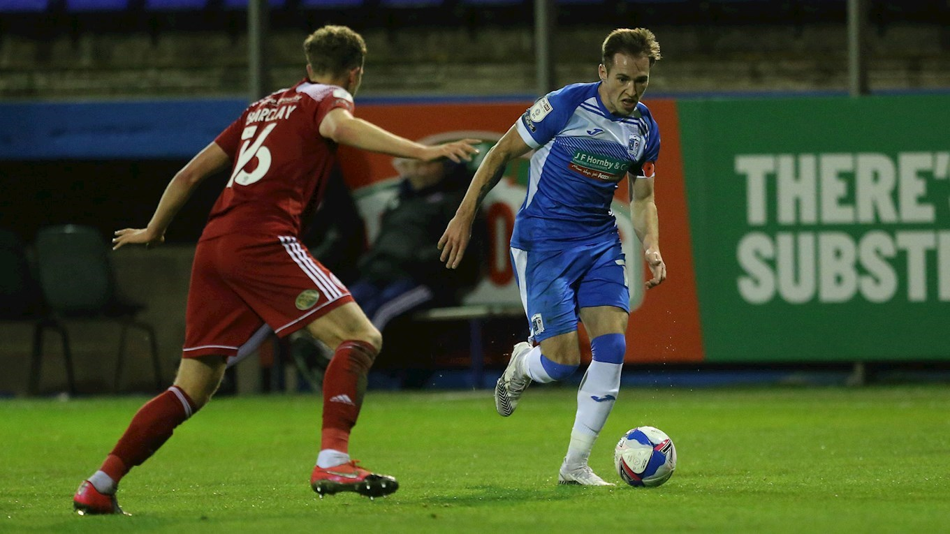 A photo of Josh Kay in action for Barrow